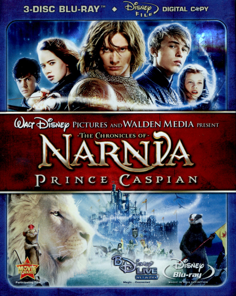 """The Chronicles of Narnia - Prince Caspian"" Blu-ray cover."