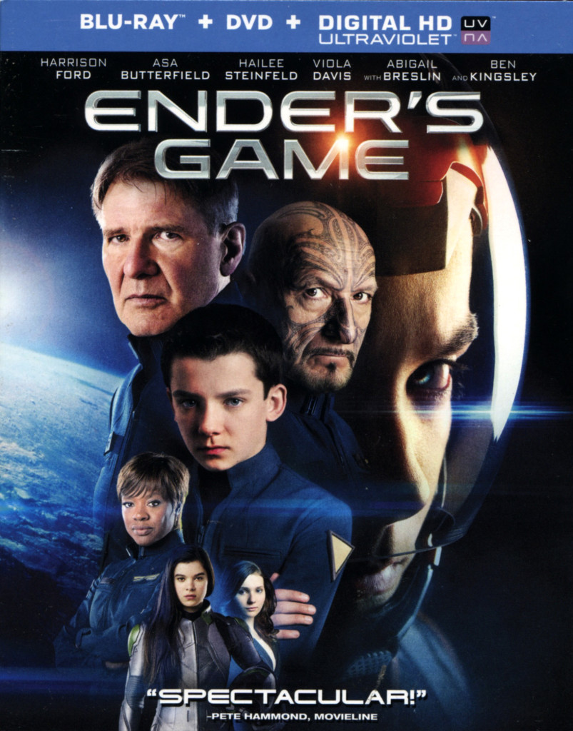 """Ender's Game"" bluray."