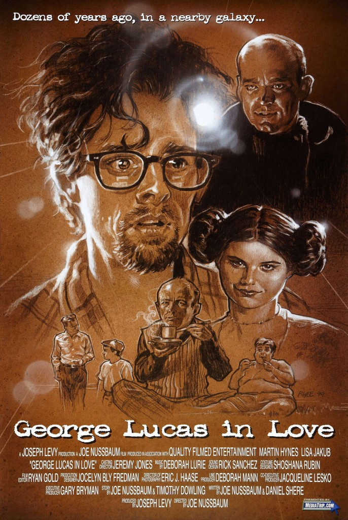 """George Lucas in Love"" poster."