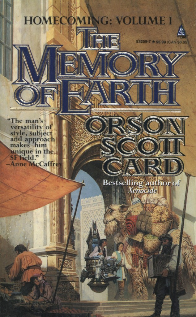 """The Memory of Earth"" by Orson Scott Card."