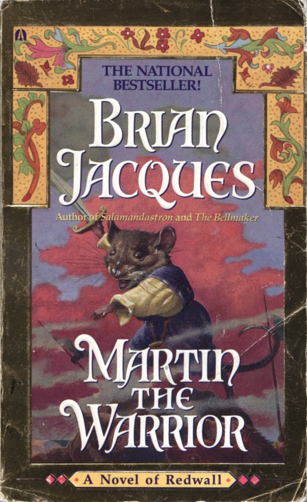 a review of martin the warrior by brian jacques Book review: redwall by brian jacques november 23,  the main character's name is matthias who is trying to find the famous sword of a mouse who lived in redwall: martin the warrior the reason he is trying to find the sword is because there are rats that are seiging redwall  an owl and a snake as i mentioned earlier anyway if you.