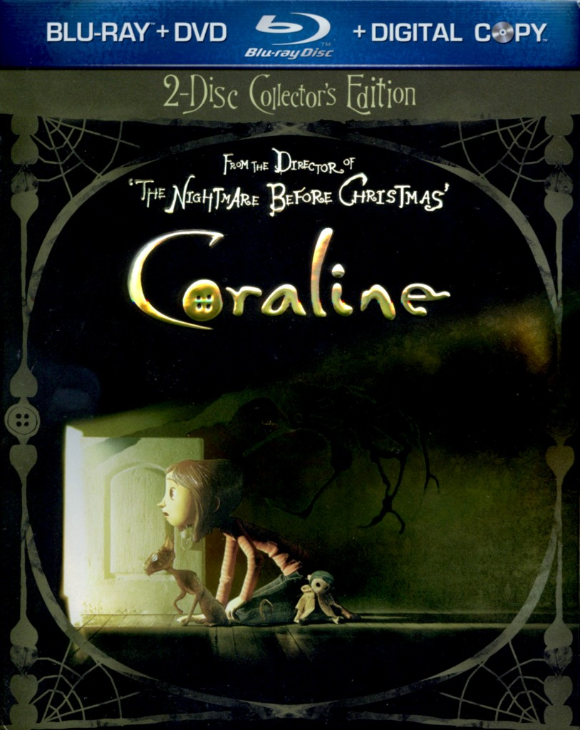 """Coraline"" - Blu-ray cover."