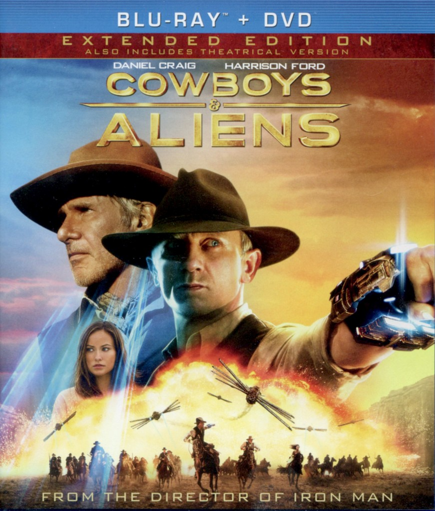 """Cowboys & Aliens"" - Blu-ray cover."