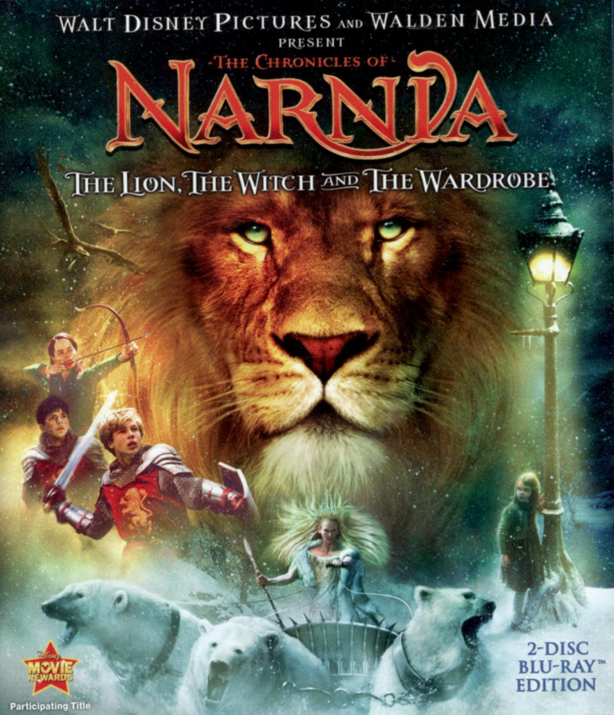 """""""The Chronicles of Narnia - The Lion, the Witch and the Wardrobe"""" - Blu-ray cover."""