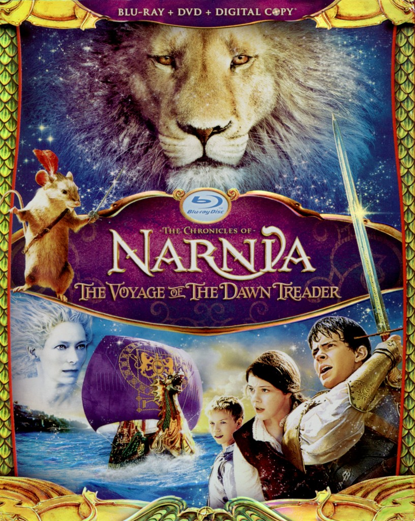 """The Chronicles of Narnia - The Voyage of the Dawn Treader"" - Blu-ray cover."