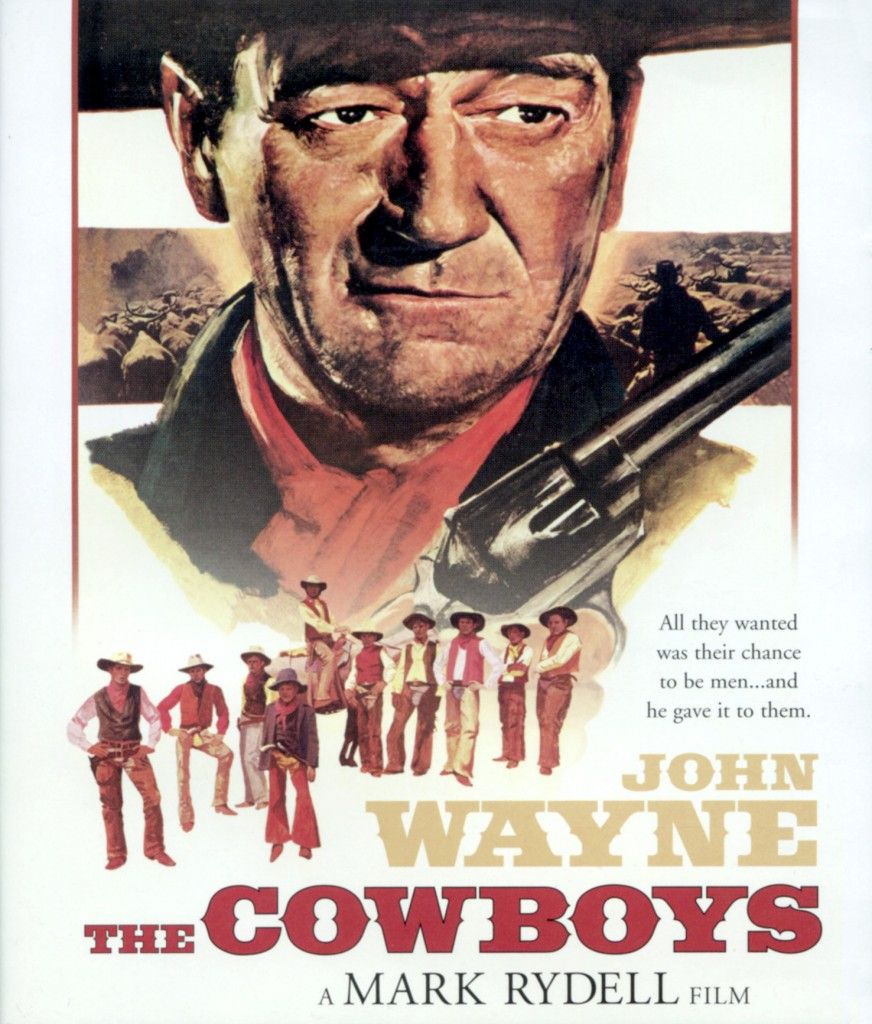 """The Cowboys"" - Blu-ray cover."