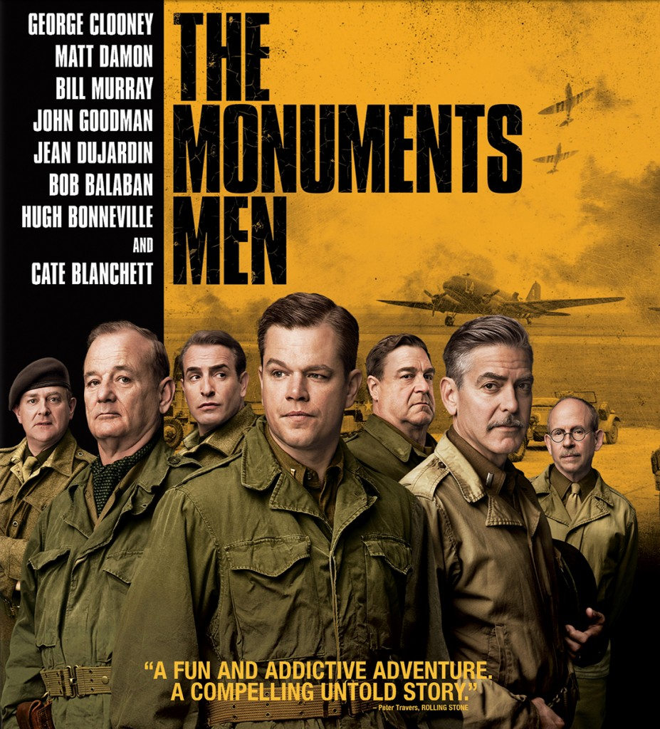 "Cover of ""The Monuments Men"" Blu-ray."