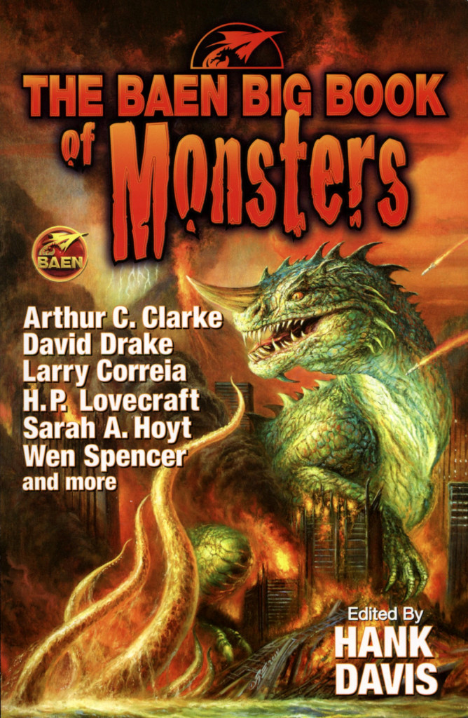 """The Baen Big Book of Monsters"" edited by Hank Davis."