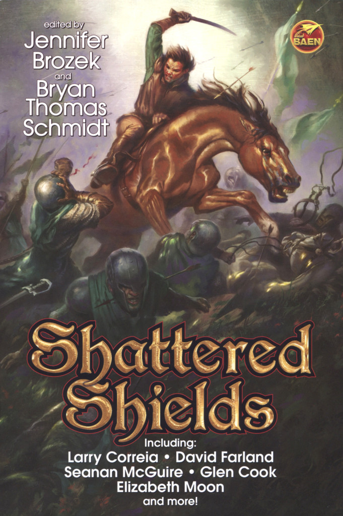"""Shattered Shields"" edited by Jennifer Brozek and Bryan Thomas Schmidt."