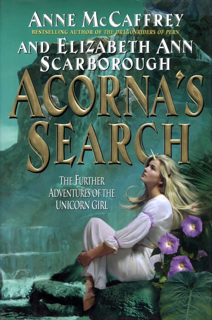 """Acorna's Search"" by Anne McCaffrey and Elizabeth Ann Scarborough."