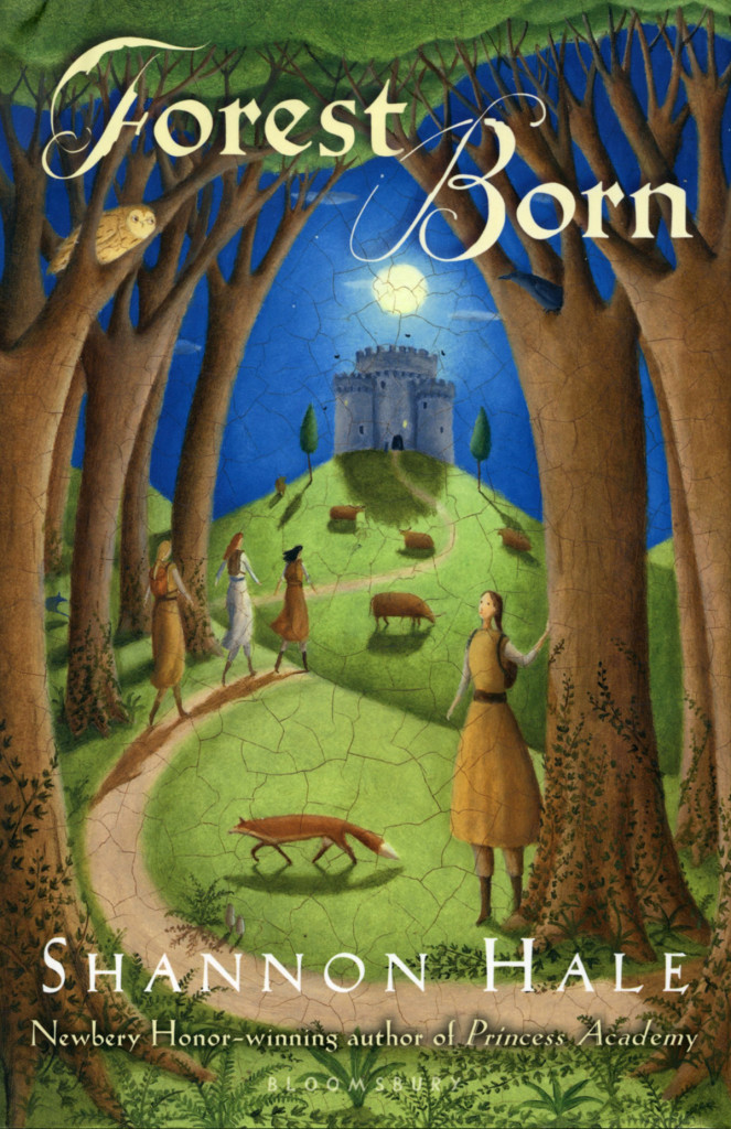 """""""Forest Born"""" by Shannon Hale, with Alison Jay cover."""