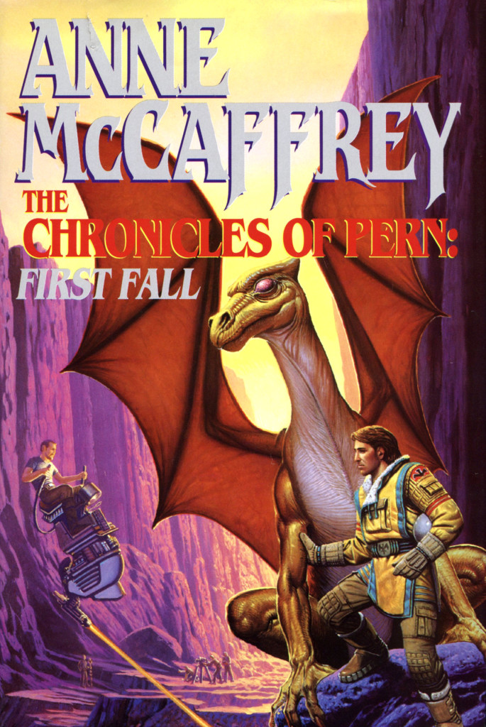 """The Chronicles of Pern: First Fall"" by Anne McCaffrey."