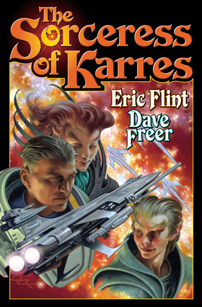 """The Sorceress of Karres"" by Eric Flint and Dave Freer."