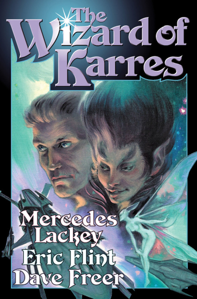 """The Wizard of Karres"" by Mercedes Lackey, Eric Flint, and Dave Freer."