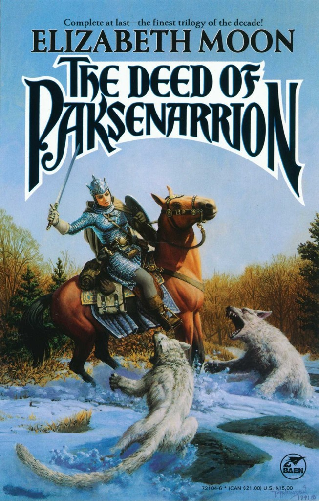 """The Deed of Paksenarrion"" by Elizabeth Moon."