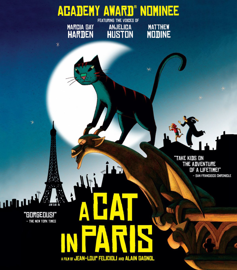 """A Cat in Paris"" Blu-ray cover."