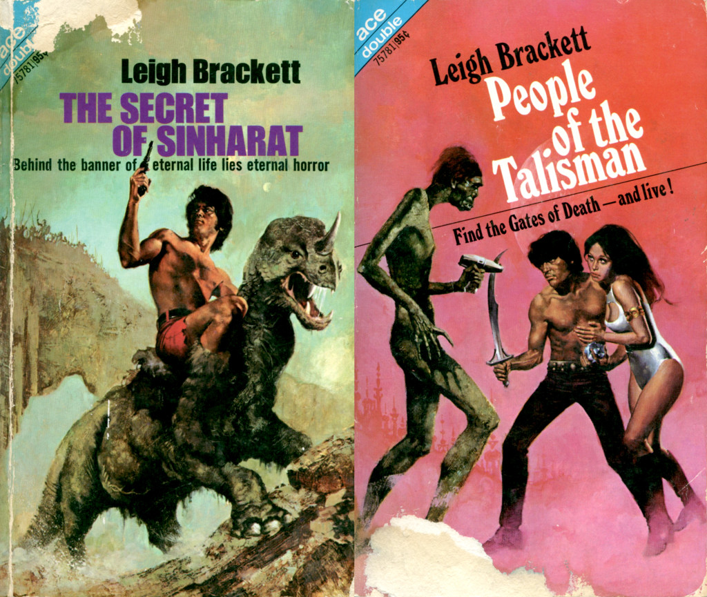 """The Secret of Sinharat"" and ""People of the Talisman"" by Leigh Brackett."