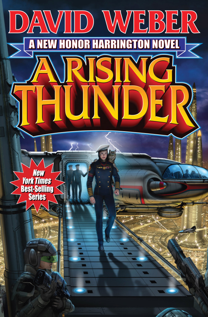 """A Rising Thunder"" by David Weber."