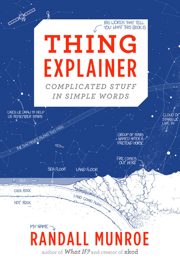 """Thing Explainer - Complicated Stuff in Simple Words"" by Randall Munroe."