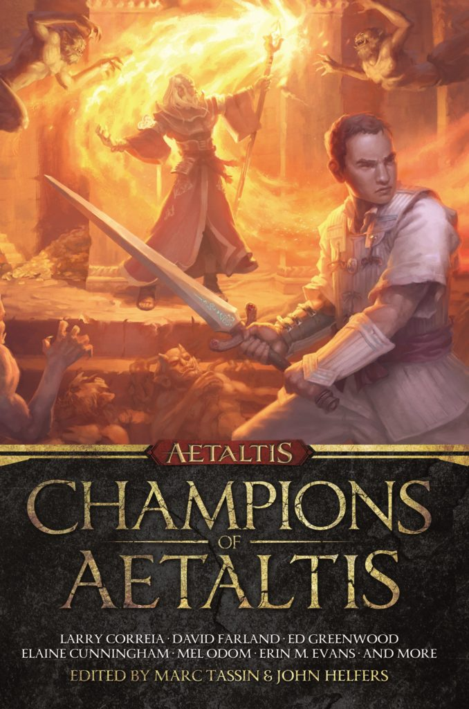 """Champions of Aetaltis"" edited by Marc Tassin and John Helfers."