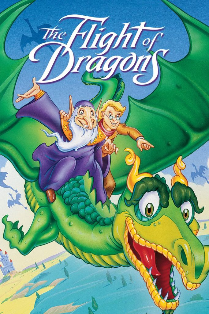 """The Flight of Dragons"" DVD cover."