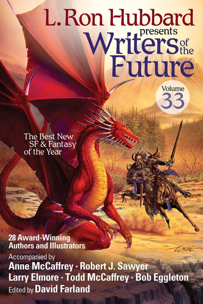 """Writers of the Future Volume 33"" edited by David Farland."